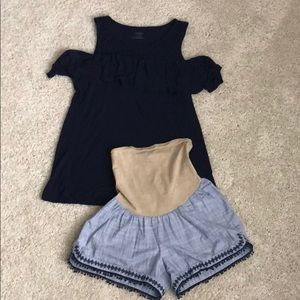 Maternity outfit size small.Jessica Simpson shorts